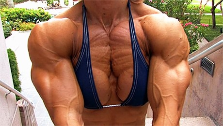 Massive and ultra ripped Brigita Brezovac posing outdoors from wonderful katie morgan
