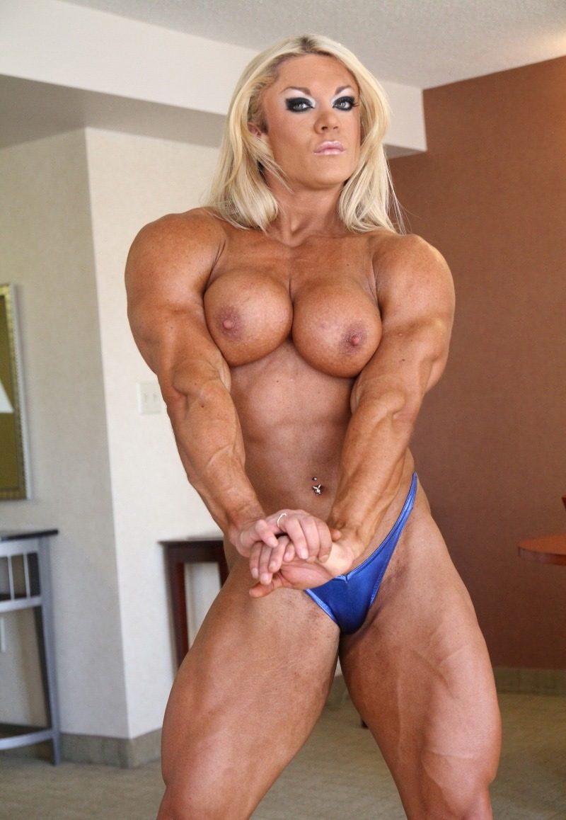 Final, sexy female bodybuilder posing consider, that