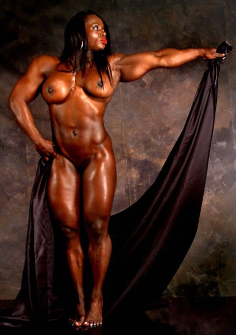 Tall black muscle goddess