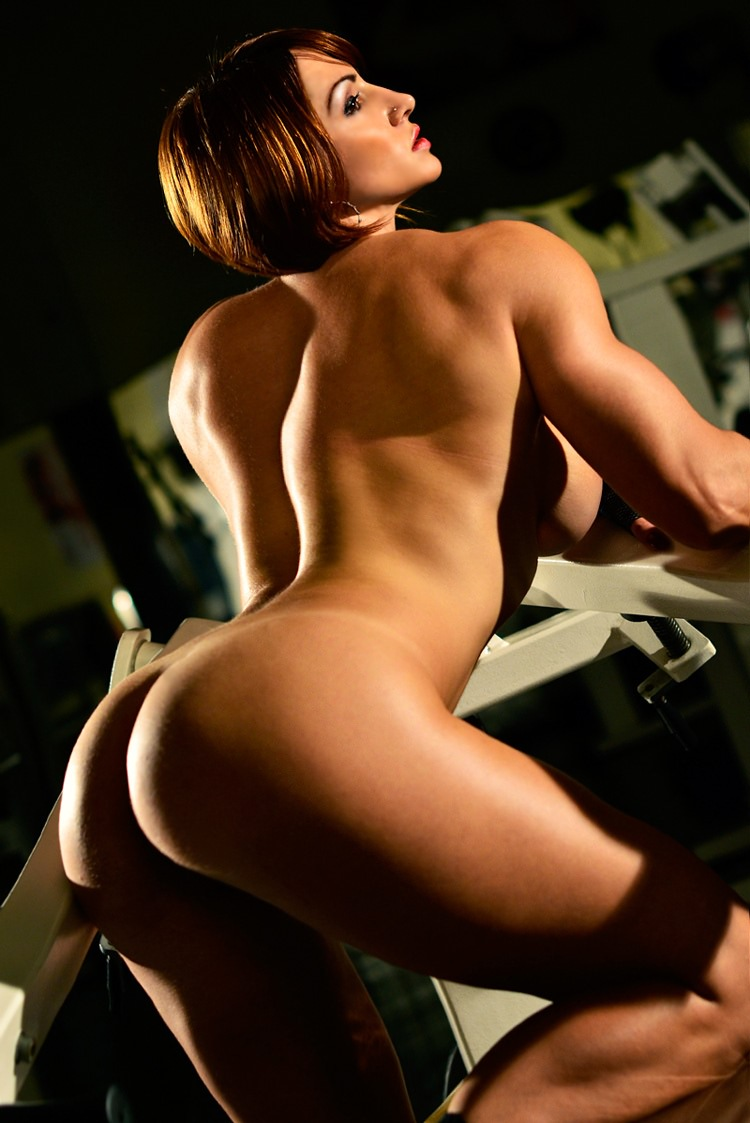 naked fit female ass