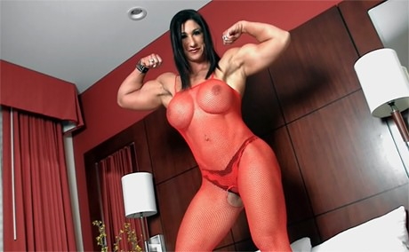 Two domination female muscle can