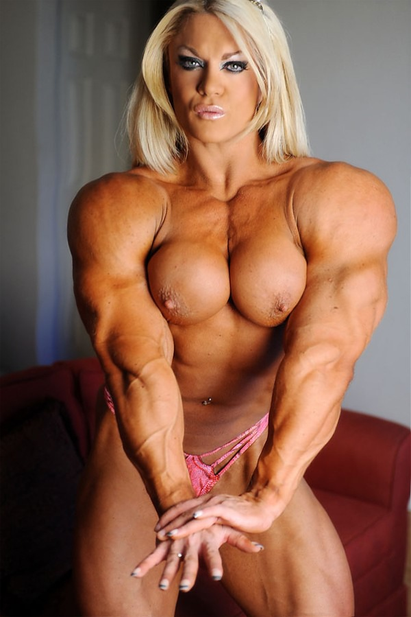 Even Sexy female bodybuilding mude