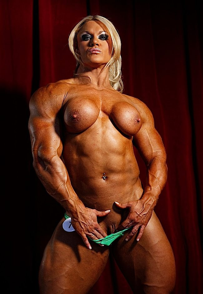 Nude asian woman bodybuilders