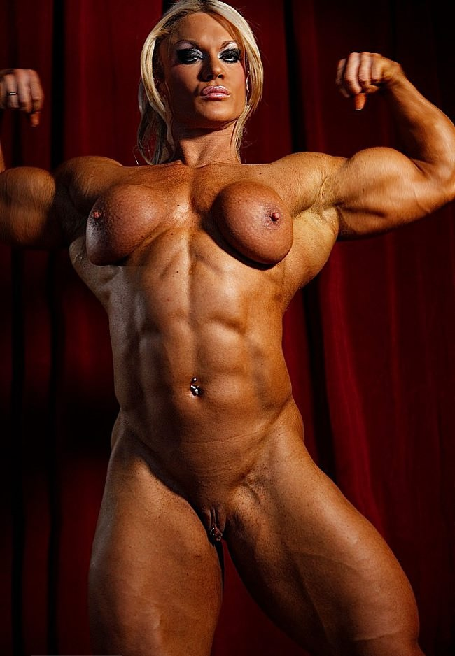 Naked lady body builder