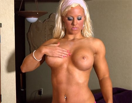 Fitness blonde babe Megan Avalon from wonderful katie morgan