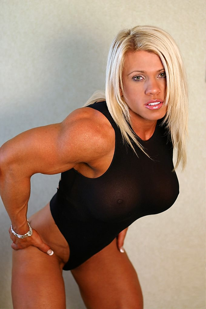 Melissa Dettwiller Blonde Female Bodybuilder With Amazing Hot Muscle
